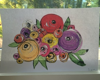 Flower Collage 2 on Cardstock PRINT 11x17