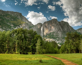 Path, Walkway, Yosemite Falls, Yosemite National Park, California, Camp 4, Meadow