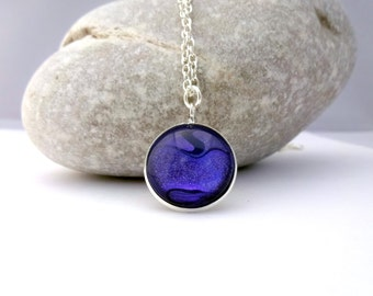 Purple Pendant with Glitter Ripple