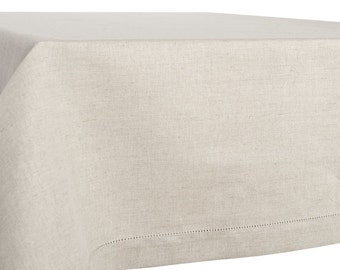 Linen tablecloth, square/ rectangle, natural linen color, gray linen tablecloth, linen tablecloth, natural table top, linen tablecloths