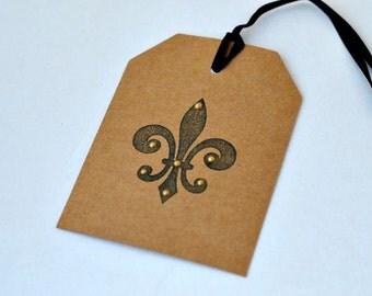 Fleur-de-lis gift tags (Set of 12)