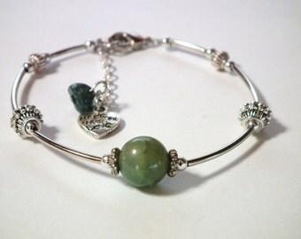 Elegant green Jasper bracelet