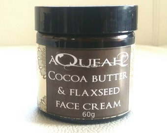 Cocoa Butter flaxseed/ linseed moisturiser/moisturizer dry skin care anti wrinkle anti ageing 60g glass jar