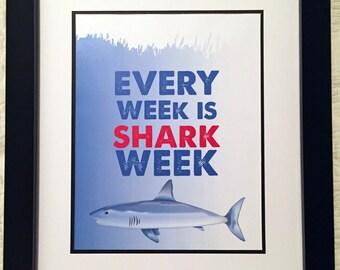 Shark Week Print