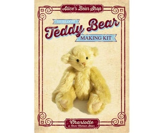 Heirloom Mohair Teddy Bear Making Kit - Charlotte 19cm when made