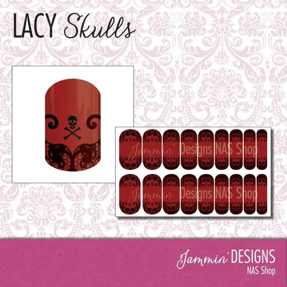 Lacy Skulls NAS (Nail Art Studio) Design
