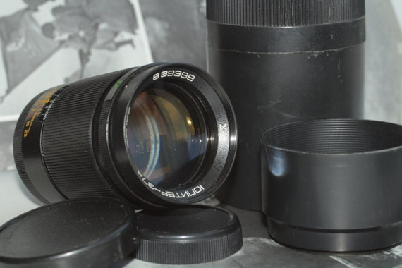 Jupiter-37A Telephoto Lens 3.5/135mm M42 With Case Hood and Both Caps И98