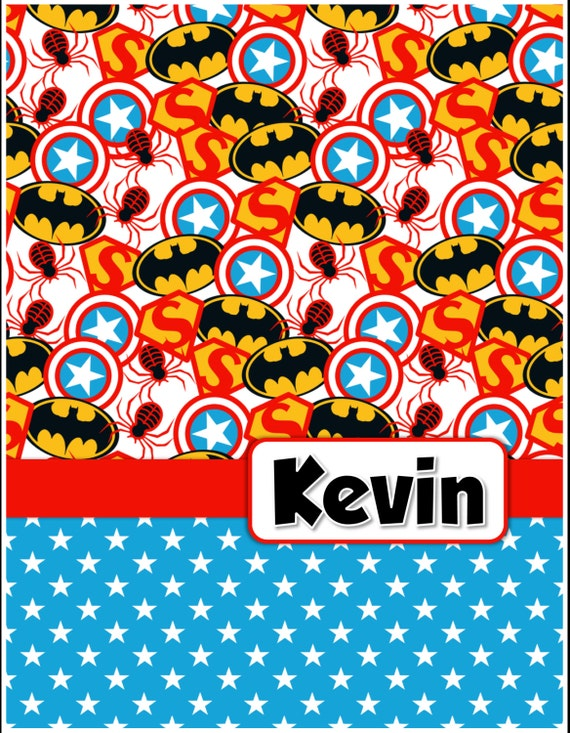 Boy:  Superhero1 Personalized Notebook