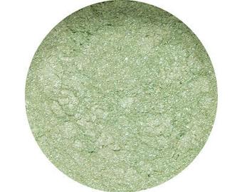 "LUMINOUS LIME - Eye Shadow  - ""Light green pearlescent"" - Mineral Eye Shadow - Organic, Vegan, Cruelty-Free Eye Shadow"