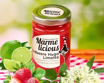 Strawberry Hugo lime fruit spread