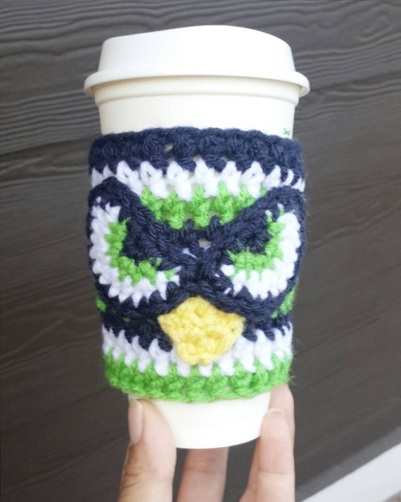 Seahawks Coffee Cozy Crochet coffee cozy tea by ...