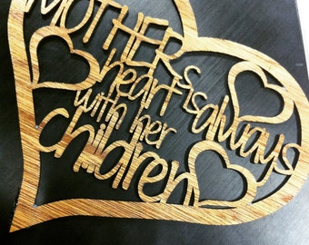 Mother's Love Quote Wooden Sign, home decor, wall hanging, mother's day gift
