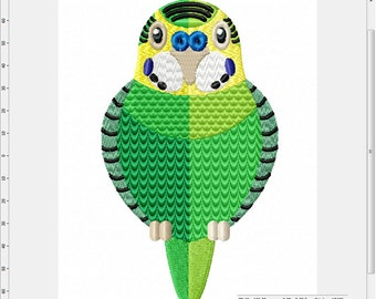 Budgie Parakeet Parrot Machine Embroidery Design