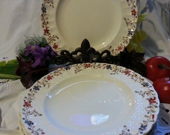 "Vintage (10) Spode Copeland Wicker 9"" Dinner Plates"