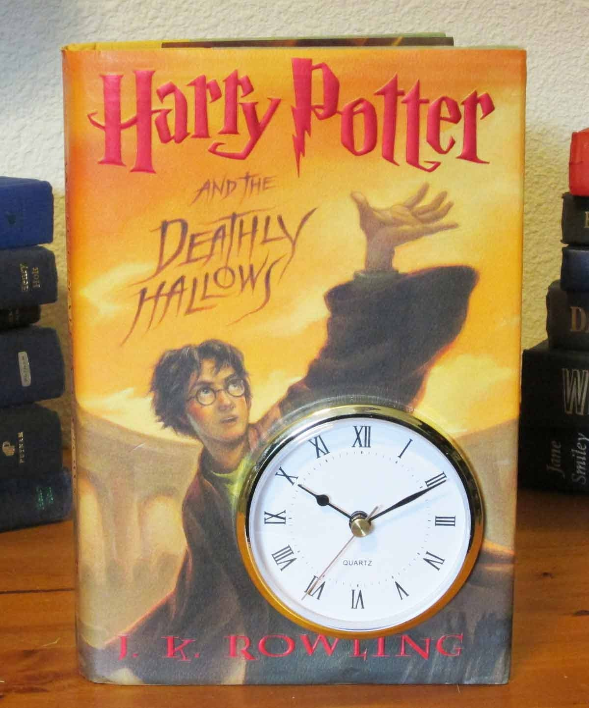 Harry Potter Book Images : Harry potter book clock and the by mybooklandia