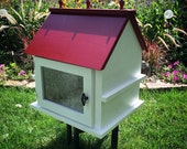 Handcrafted Outdoor Little Neighborhood Free Book Exchange Library Solid Pine Fully Assembled
