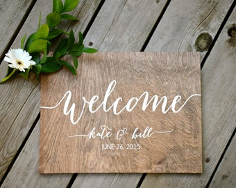 Wedding Welcome Sign - Wooden Wedding Signs - Wood