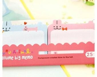 Cute Kawaii Korean Stationery RABBIT Sticker Notes