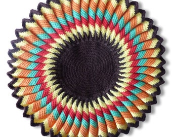 Wool 1970 multicolor doily