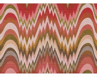 LEE JOFA KRAVET Bargello Jacquard Upholstery Fabric 10 Yards Pink Rose Taupe Multi