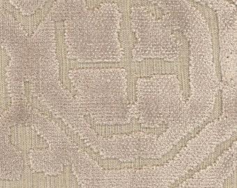 POLLACK ASIAN CHINOISERIE Medallions Cut Velvet Fabric 10 Yards Cream on Natural
