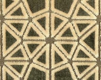 POLLACK CROSSCUT Plush Cut Velvet UPHOLSTERY Fabric 5 Yards Herb