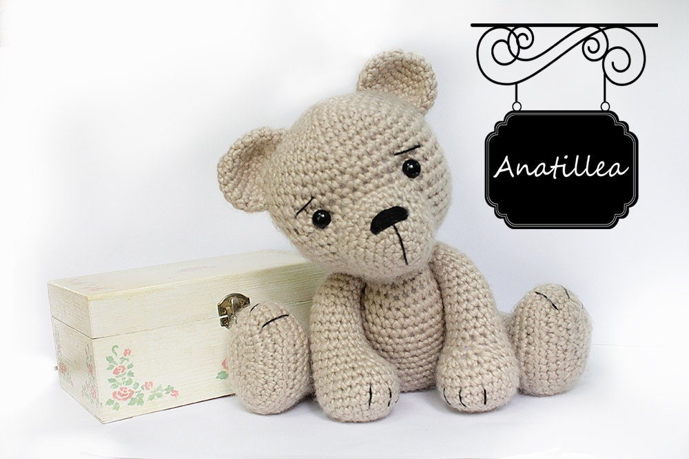 Amigurumi Baby Shower Bears : PATTERN : Bear-teddy Amigurumi bear pattern-Bear Classic