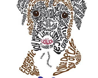 Boxer Word Art