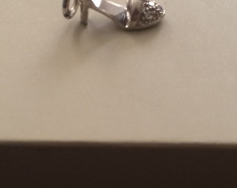 Sterling Silver with Diamonds Lady Shoe Pedandt
