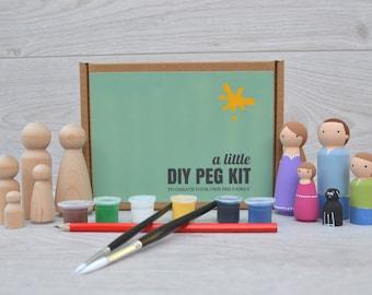 DIY Peg Doll Kit ~ Children's Craft Kit