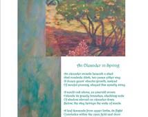 """Poetry Art Orig Poem Life, """"An Oleander in Spring"""" Fine Art Digital Print 8"""" x 10"""" x 0.033"""