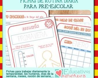 Rutina diaria para prescolar -català-