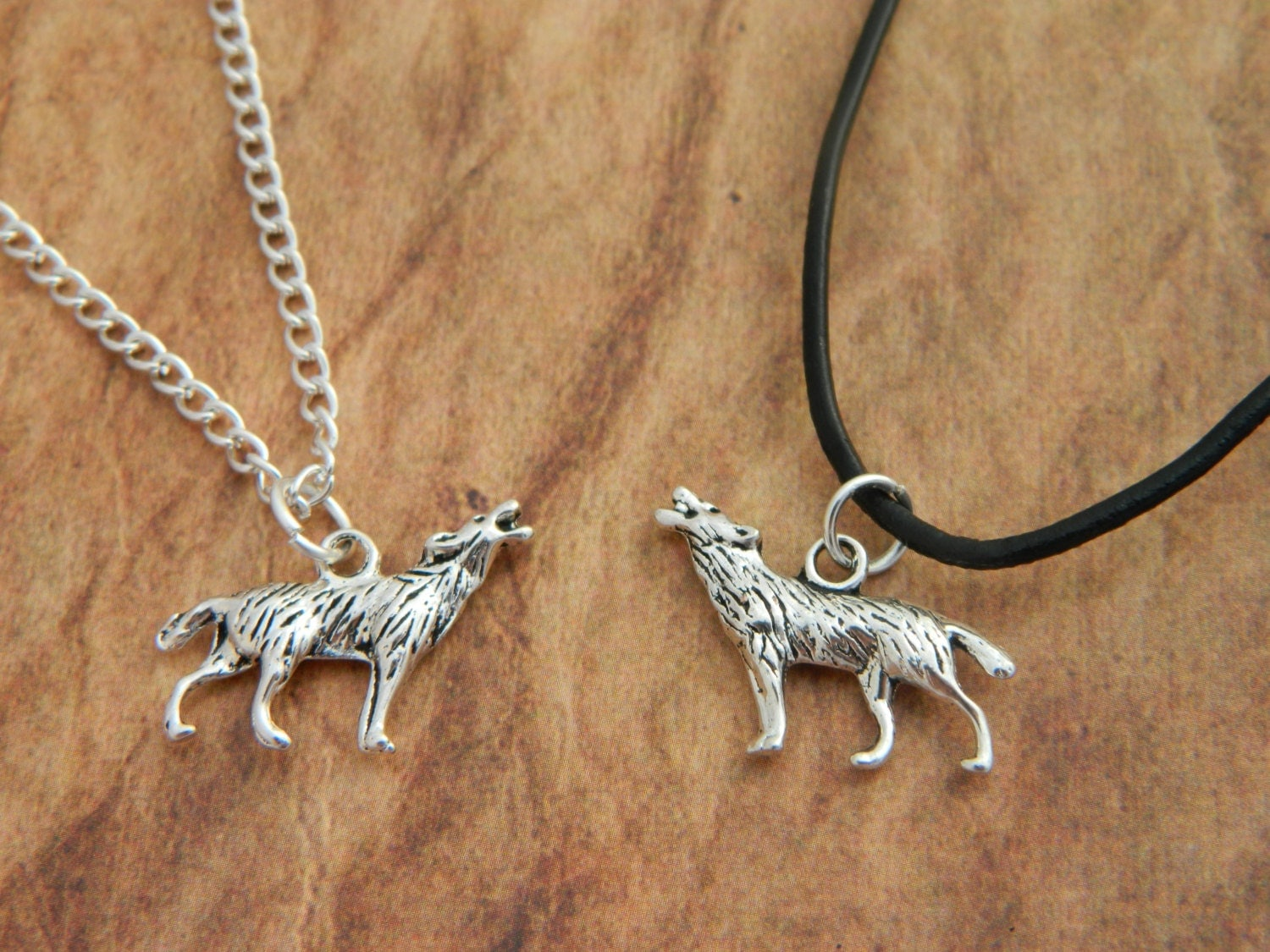 wolf necklace necklace wolf charm mens necklace
