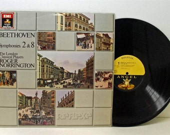 Beethoven Symphonies 2 & 8 Roger Norrington LP 1987 Emi Angel DS 47698 Vinyl