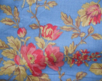 blue and red cotton blend fabric