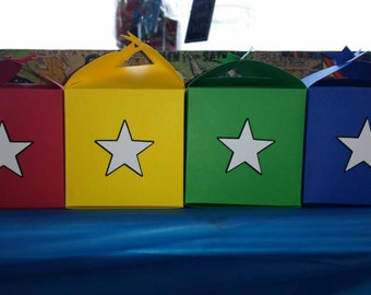 Superhero Star Favor Boxes (10 included in the price)