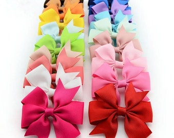 SALE: 40 Baby Ribbon Bows with Alligator Clips