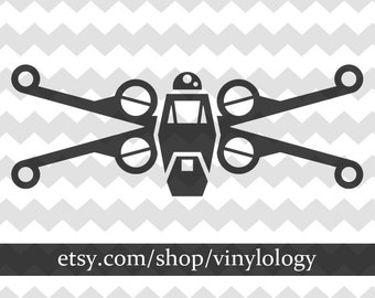 X-Wing Starfighter Vinyl Decal Sticker, Star Wars Inspired Stickers, Nerd Decor, Nerd Decal, Rebel Alliance, New Republic, X-Wing Fighter