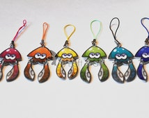 Splatoon Squid Dangling Tentacle Phone Charm/Keychain