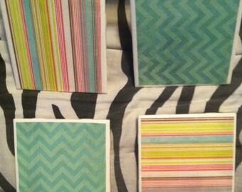 Bright Pattern Coasters (4)