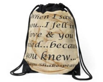 When I fell In Love...Drawstring Bags