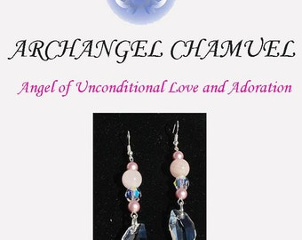 Archangel Chamuel  Rose Quartz Earrings - Uncondtional Love