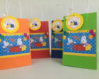 Inspired Max and Ruby party favor bags... Birthday parties... goodie bags ... SET Of 8...