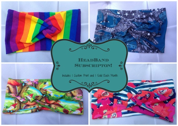 Headband Suprise Subscription - Turban Style, Head Wrap - 1 Month Subscription - April