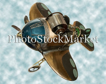 Antique Speed Racer Plane PNG