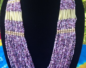 Gorgeous Necklace- Purple and Mixed Colors- FREE SHIPPING