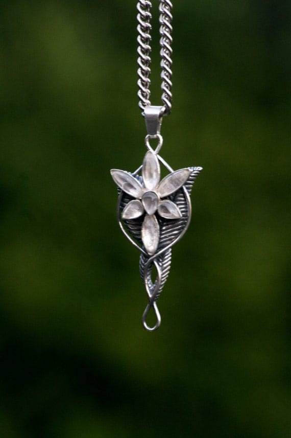 lord of the rings inspired necklace arwen s by medievalcrowd