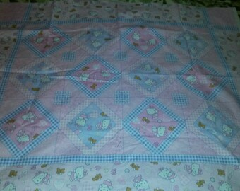 Hello Kitty Angel Sanrio Baby Quilt Top Panel
