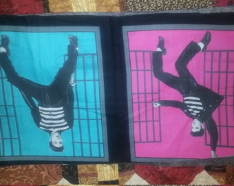 Elvis Presley 4 Fabric Panels Jailhouse Rock