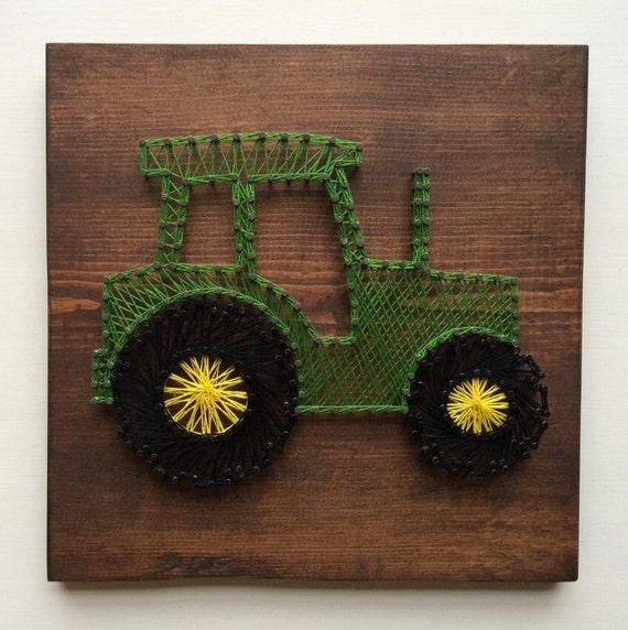 tractor string art. Black Bedroom Furniture Sets. Home Design Ideas
